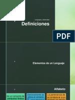 Definiciones_Lenguajes y Autómatas