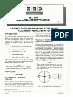 EMD M.I. 100 Bore Alignment Qualification