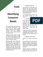 10 Methods for Identifying Customer Needs
