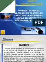 Formalizacion Minera - Uso de explosivos SUCAMEC