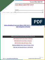 Current Affairs Q&A PDF Free - April 2019 by AffairsCloud