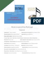 Programma concerto San Giacomo