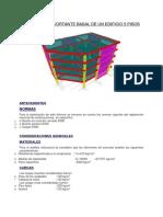 Cálculo de La Cortante Basal de Un Edificio 5 Pisos