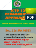 k to 12 Pedagogical Approaches