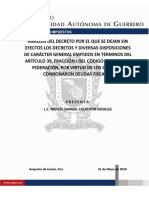 Analisis Del Decreto de Las Condonaciones