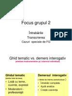 C 11 Intrebarile,Transcrierea Si Analiza FG
