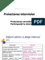 C 07 Proiectarea Interviului (2)