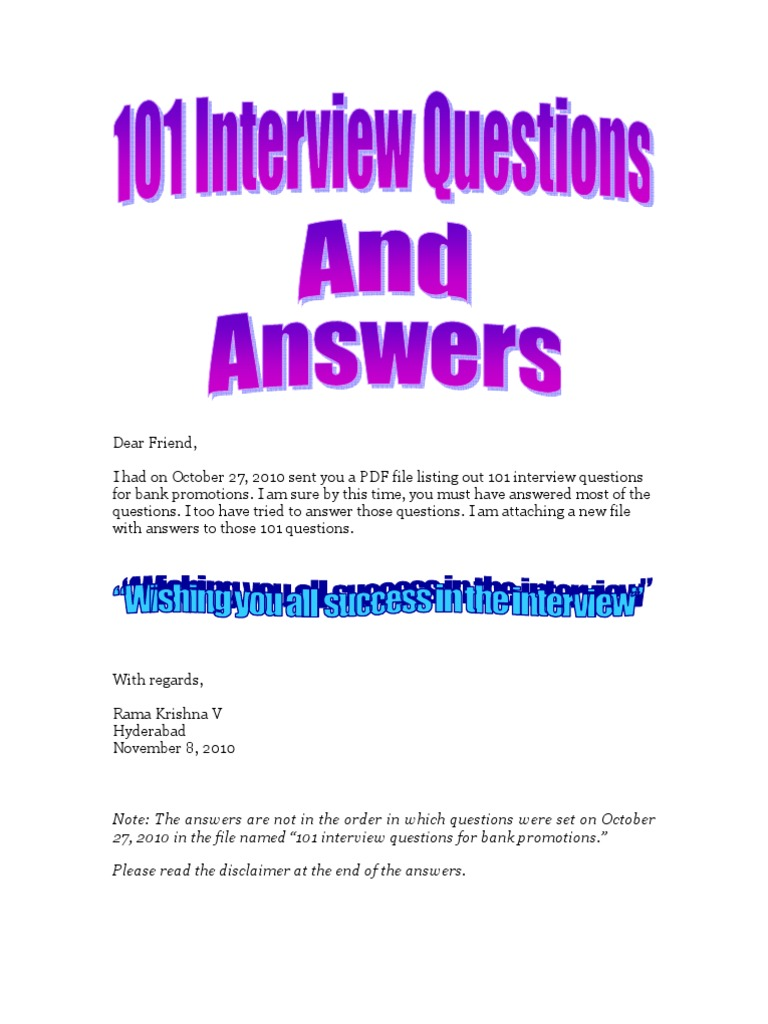 101 Questions & Answers-Interview for Bank Promotions-VRK100-08Nov2010 |  Exchange Traded Fund | Value Added Tax