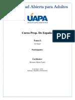 Tarea I Español 1 UAPA