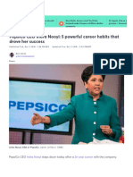 2018 Indra Nooyi Habits for Success