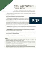 Como Melhorar Suas Habilidades de Pensamento Crítico