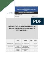 Procedimiento de Mantenimiento de Motor