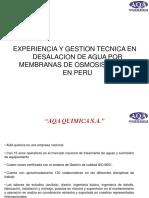 Desalacion Por Osmosis Inversa - Experiencia AQA Quimica 2015