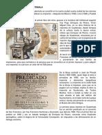Primera Imprenta en Guatemala