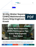 10 Oily Water Separator (OWS) Maintenance Tips Every Ship Engineer Must Kn222248
