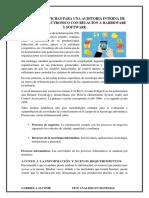 Modelos de Fichas Para Una Auditoria Interna de Comercio Electronico Con Relación a Harrdware y Software
