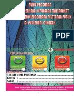 Buku Pedoman Survei Sederhana Kepuasan Masyarakat