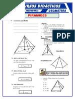 Pirámide Regular Para Cuarto de Secundaria