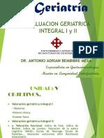 Conferencia No. 6 Valoracion Geriatrica Integral.