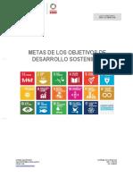 Agenda 2030 (España). Metas de Los Ods