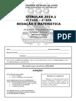 Prova de Conhecimentos Específicos - Matemática - Gabarito 1