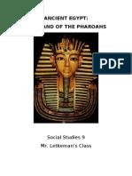 ANCIENT EGYPT Unit Outline Package