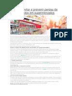 Como Evitar e Prevenir Perdas de Produtos Em Supermercados