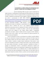 Nota da associação brasileira de antropologia