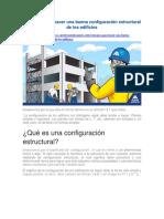 Consejos Para Hacer Una Buena Configuración Estructural de Los Edificios