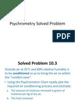 Psychrometry Solved Problem