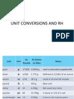 RAC L Unit Conversions and RH