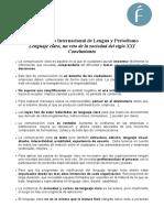 Conclusiones Seminario Lenguaje Claro