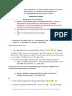 Assessment Critique for the Written Response Assessment