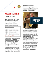 Moraga Rotary Newsletter June 25 2019