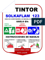 Cartel Extintor Solkaflam