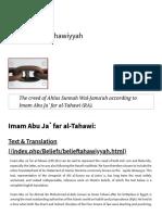 Al-Aqidah Al-Tahawiyyah _ Beliefs