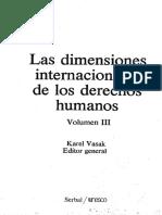 Las Dimensiones Internacionales de Los Derechos Humanos - Índice