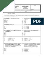 Evaluación Unidad 1, Forma 1