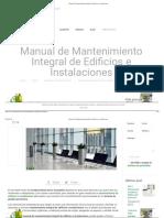 Manual de Mantenimiento Integral de Edificios e Instalaciones