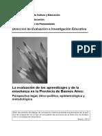 La evaluación de los aprendizajes y de la enseñanza en la provincia de Buenos Aires