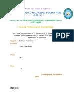 Formato 7 - Determinación Pro. Adan - La Materialidad, El Error Tolerable e Importe Nominal Para Acumular Errores en El Resumen de Las Diferencias de Auditoria