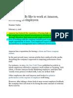 Amazon Work Culture Paraphrasing Exercise