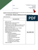 Cotiza Prensa Hidraulica