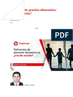 Extinción de Pensión Alimenticia ¿Vía de Acción?.