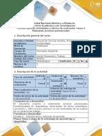 Guía de Actividades y Rubrica de Evaluación Tarea 4-Planeando Acciones Psicosociales