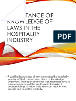 Importance of Knowledge of Laws in the Hospitality