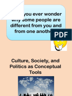 Culture, Society, And Politics as Conceptual