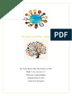 edu 280 diversity lesson plan
