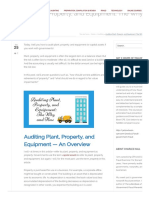 Auditing Plant, Property, And Equipment_ the Why and How Guide _ CPA Hall Talk