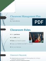 edu classroom management plan